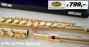 Querflöte 875Gold  21k flûte or Flauto oro Flauta en oro amarilo Flûte or jaune