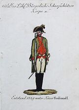 Reilly: Org. altkol. Kupferstich Österreich Uniformen Scharfschützen Korps; 1796