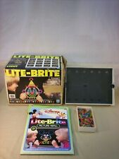 Vintage 1981 Hasbro Lite-Brite Toy with Disney Refill Pack Light Bright IN BOX