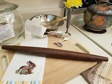 "French pastry rolling pin. New. 18"" long x 1 1/2"" diameter.  Walnut. Finished."