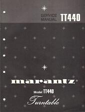 Marantz Service Manual Model TT440 turntable record player Original Repair Book