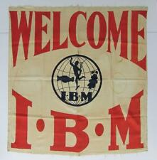 c 1920 VINTAGE IBM International Brotherhood Magician UNION WELCOME BANNER MAGIC