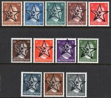 GERMANY 1945 Saxon Obliterations Hitler O/P w/ Hammer & Sickle in Star Fine MNH
