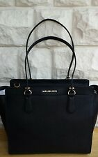BNWT, MICHAEL KORS 'DEE DEE' LARGE CONVERTIBLE LEATHER TOTE - BLACK