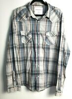 Aeropostale Men's  Authentic Fit Pearl Snap Check Shirt Size XL
