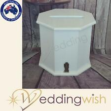 Wedding Wishing Well - wooden timber box - white, engagement, large card keeper