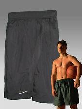 Nuovo Nike da Uomo Fit-Dry lungo Palestra Fitness Pantaloncini Basket NERO M