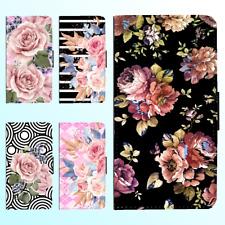 iPhone X 8 8 Plus 7 6s 6 Plus PU Leather Flip Wallet Case Flower Floral II Cover