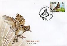 Belarus 2017 FDC Crested Lark Birdlife Intl Bird of Year 1v Cover Birds Stamps