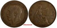 Great Britain George V Bronze 1920 1 Penny KM# 810