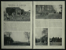 Shooting In Norfolk Soigne Beat Westacre High House 1936 3 Page Article 7039