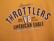Throttlers V8 Engine Specialist yellow XL t shirt American Eagle speed shop