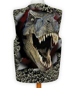 3D Dinosaur Face Design Fancy Dress Waistcoat