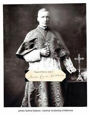 His Eminence James Cardinal Gibbons Autograph Archbishop Baltimore Maryland