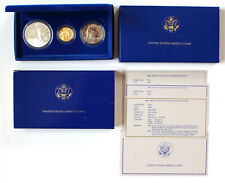 1986 US Statue of Liberty 3 Coin Commemorative Proof Set Gold, Silver, Clad OGP