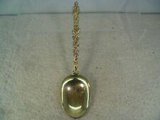 Dutch 19th Century Solid Silver Gilt Christening Spoon