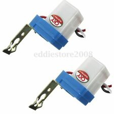 2 X Auto On Off Switch Control Street Light Photocell Photoswitch Sensor 12V 10A