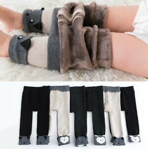 Thick Fleece Lining Warm Leggings For Girls Cartoon Winter Toddler Cotton Pants