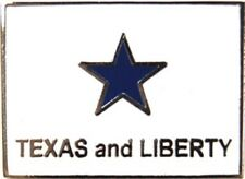 Texas & Liberty Flag Hat/ Pin Texas Historical Flag Free Shipping! (Clearance)