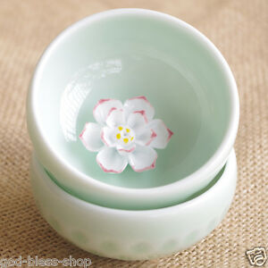 One cup ceramic porcelain tea cup made in China fish lotus design handmade cups
