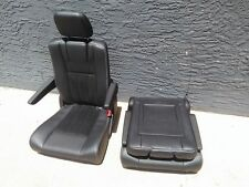 BLACK LEATHER 2 BUCKET SEATS Jeep Hotrod Bus Van Boat  Truck Humvee