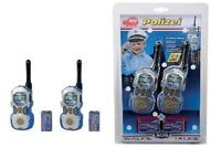 Dickie Toys Kinder Spielzeug Walkie Talkie Polizei Sprechfunkgerät mit Reichweit