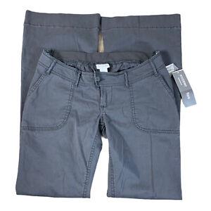Motherhood Womens Maternity Flare Pants Size Small Dark Gray NEW