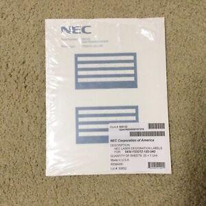 NEC LASER DESIGNATION LABELS ITZ/DTZ-12D-24D STOCK # 660122 PACKAGE OF (20)