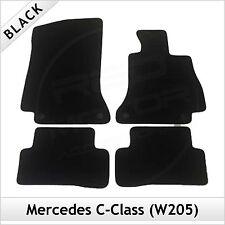 MERCEDES C-Class W205 S205 C205 2014 onwards Tailored Carpet Floor Mats BLACK