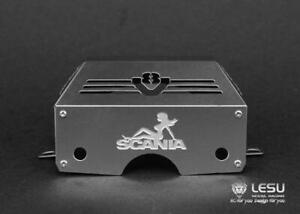 1/14 RC LESU TAMIYA Scania Tractor Truck Metal Gearbox Engine Cover B