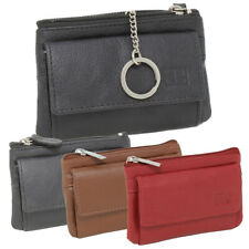 Leder Schlüsseltasche Schlüsseletui Etui Minibörse Kartenbörse Geldbörse Ring