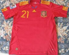 Camiseta Shirt Trikot Maillot SPAIN España 21 Silva South Africa 2010 Patch Sz.M
