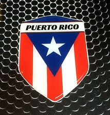 "Puerto Rico Proud Shield Flag Domed Decal Emblem Car Sticker 3D 2.3""x 3.3"""