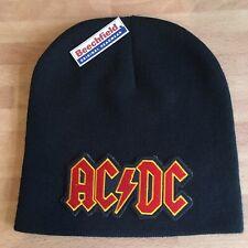 AC/DC Black Pull-On Beanie Soft Warm One Size