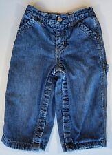 BABY GAP BOYS Denim Carpenter Tool Pockets Jersey Knit Lined Jeans 18-24M