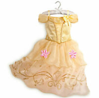 Kids Girls Princess Costume Fairytale Dress Up Belle Beauty and The Beast Dress