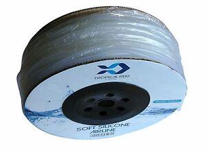 100M SOFT SILICONE AIRLINE AIR TUBE ROLL FISH POND AQUARIUM TANK 4MM/6MM TUBING