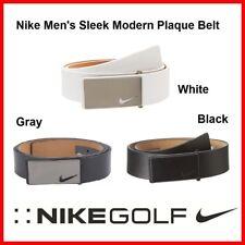 New NIKE BELT Sleek Modern Plaque Belt 32 34 36 38 40 42 White Gray Black $80