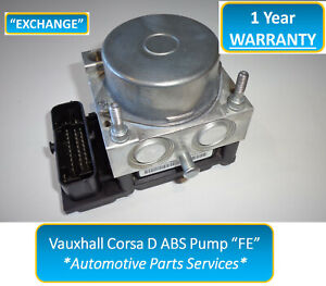 "Vauxhall Corsa D ABS Pump + ECU - FE 0265800796 0265232288 13282282 ""EXCHANGE"""