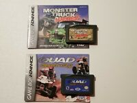 Quad Desert Fury and Monster Truck Madness Game Boy Advance Games Lot