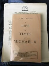 LIFE & TIMES OF MICHAEL K. - UNCORRECTED PROOF ~J.M. COETZEE - Publishers Letter