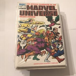 Official Handbook Of The Marvel Universe Deluxe Edition Full Run 1-20 Near Mint