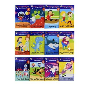 Ladybird I'm Ready for Phonics 12 Book Collection Set Level 1 to 12 Nat Naps! PB
