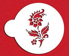 Delft Flower 1 Cake Cupcake Stencil Flexible Cookie Stencil