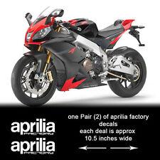 aprilia factory decals fits rsvr rsv4 other models also