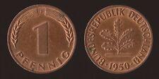 GERMANIA GERMANY 1 PFENNIG 1950 F