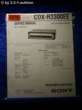 Sony Service Manual CDX R3300EE CD Player (#4279)