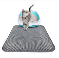 Waterproof Double-Layer Cat litter Mat Pet Kitten Trapper Dirt Catcher Pad Grey