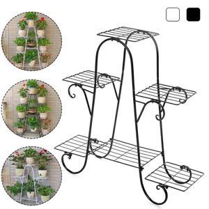 Outdoor Indoor 6/9 Pots Plant Stand Display Shelf Garden Decor Flower Rack Patio
