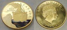 TITANIC Gold Coin English British Fiji Canada Ship Ocean Liner Disaster History